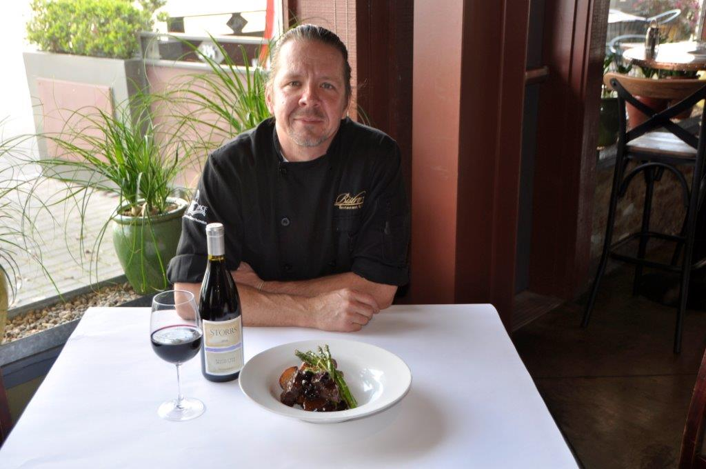 Chef Leroy Walker signature dish and his Grilled Venison with Black Cherry Port Reduction