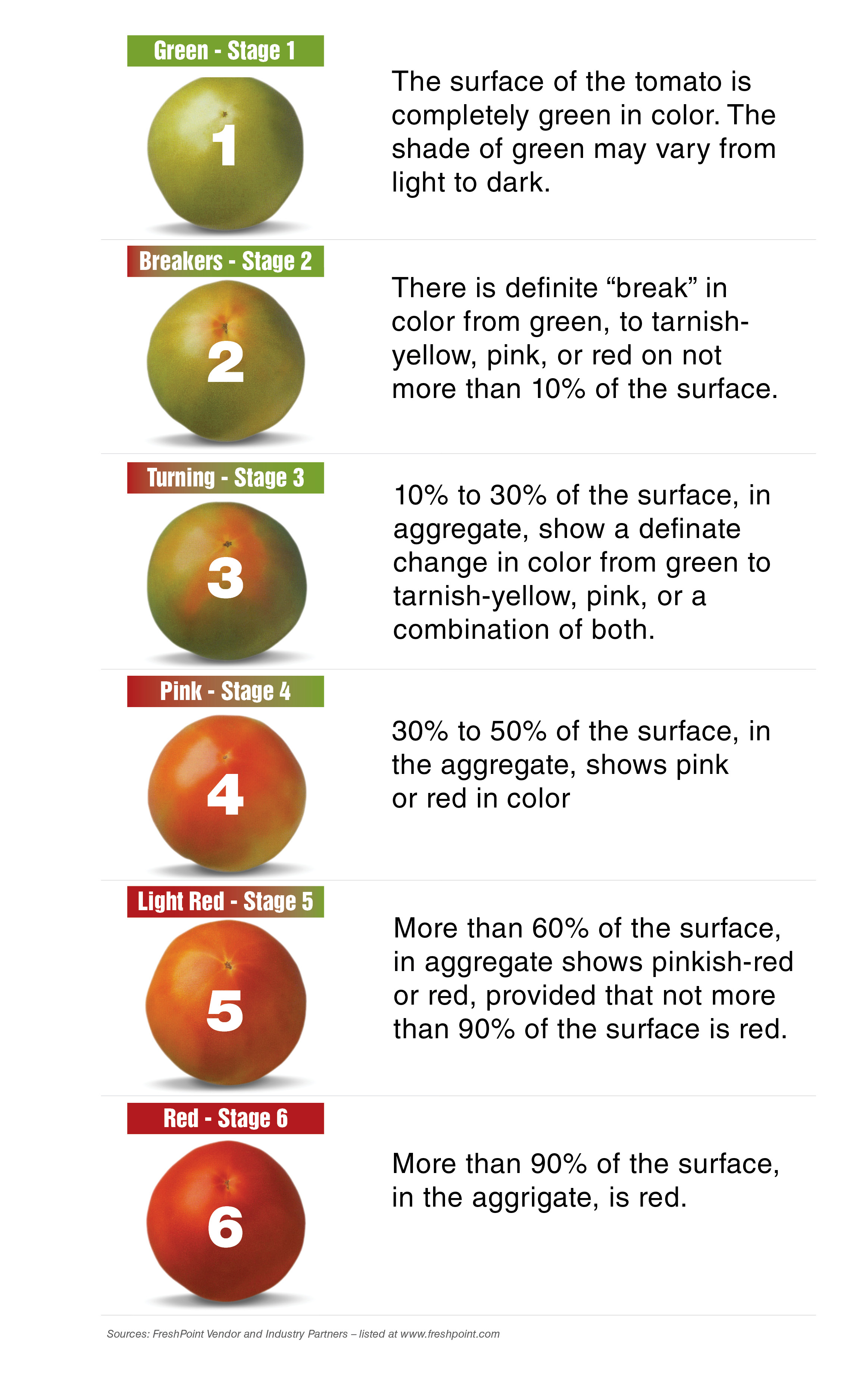 freshpoint produce 101 tomatoes color chart
