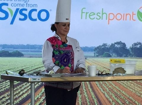 Chef on Demo Stage—FreshPoint Central California