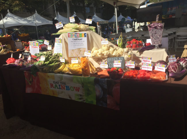 Eat the Rainbow Display—FreshPoint Central California