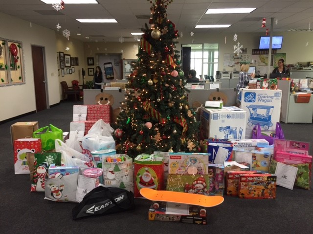FreshPoint Southern California's Concept 7's holiday donation is looking very festive around the tree!