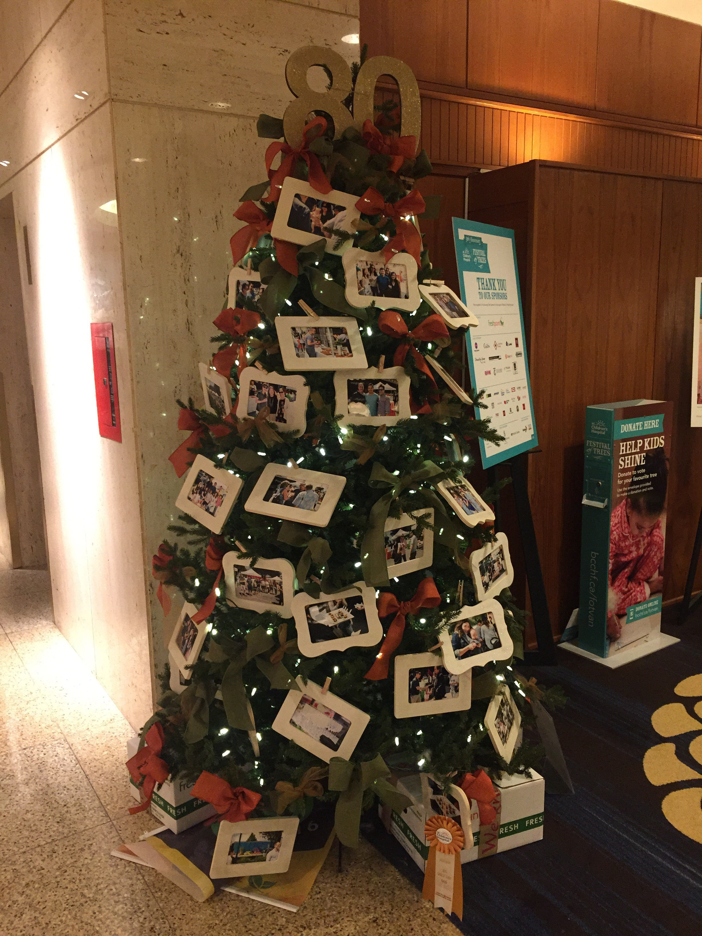 FreshPoint Vancouver's beautifully decorated holiday tree for the Festival of Trees supporting the BC Children's Hospital Foundation.