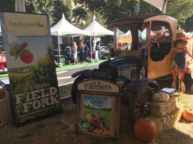 Meet the Farmers tablet display—FreshPoint Central California