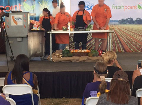 ProStart High School Students on Demo Stage—FreshPoint Central California
