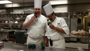 The chefs at Hyatt I-DR pictured are L-R: Chef Brian and Chef Manfred.